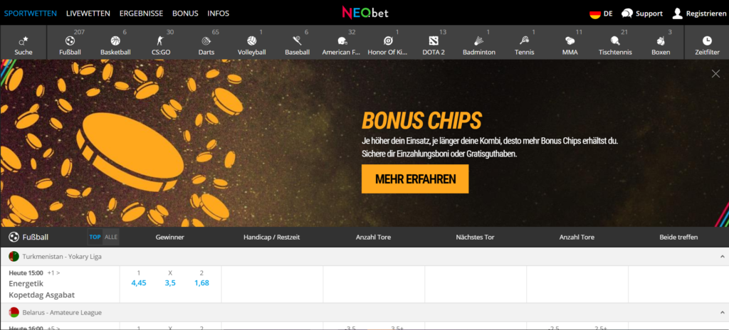 neo-bet-homepage